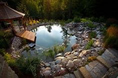 Natural swimming pools use plants or a combination of plants and sand filters to keep the water clean and clear without chemicals.