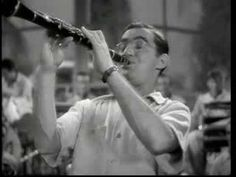 """Benny Goodman (clarinet), Gene Krupa (drums), Harry James (trumpet), Lionel Hampton (vibes), Teddy Wilson (piano)--jazz greats all--perform """"Sing, Sing, Sing"""" in an INCREDIBLE performance.  I must learn more about this music."""