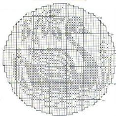 Schwan - swan Filet Crochet