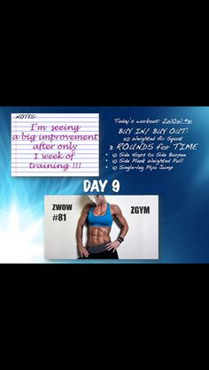 Zshred Day 9 Daily Workouts, Burpees, Workout Ideas, Workout Programs, Calendar, Strong, Exercise, Gym, Health