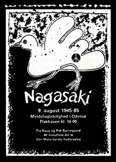 Kvinder for Fred, Odense: Nagasaki-plakat 1985.