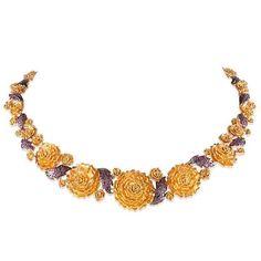 Gold necklace with rubies. #الثريا #gold #necklace #rubies #Kuwait #الكويت #handmade #Jewellery #designer #AlKhudairi #kjewelleryco #KJ #مجوهرات_الخضيري