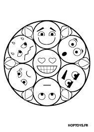 Resultado De Imagen Para Mandalas De Emojis Para Colorear Mandalas