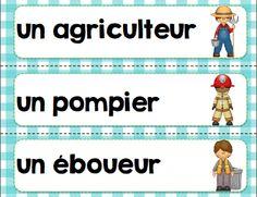 French community helpers activity bundle/ Cet ensemble de 56 pages sur les métiers contient: - 24 mots-étiquettes - jeu de J'ai...qui a? - des puzzles - un bingo  - un jeu de mémoire - 10 phrases mélangées à replacer et PLUS Grade 1, Bingo, Social Studies, Puzzles, Centre, Kindergarten, How To Memorize Things, Study, Community
