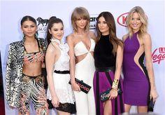 Taylor Swift, Selena Gomez, Karlie Kloss, Lily Aldridge, Gigi Hadid, Zendaya, Hailee Steinfeld, Martha Hunt