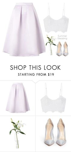"""#summerwedding"" by tashagagarina on Polyvore featuring мода, Miguelina и Gianvito Rossi"