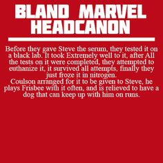 Bland Marvel Headcanons- Steve really needs a dog *** ACCEPTED!