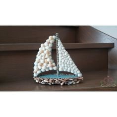 Zeilboot 3D PPmache 24x8x24cm