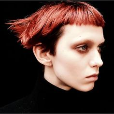 """Alexandra Gurvitch, Vogue.com Photo Researcher - """"Model Katie Moore's punk Manic Panic crop is my fall-winter dream cut. So chic and edgy at the same time. If only my…"""