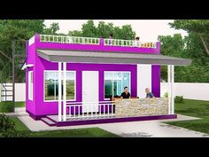 ARKIX3D - YouTube Small House Layout, Small House Design, House Layouts, Modern House Design, Modern House Floor Plans, 3d House Plans, 2 Bedroom House, Construction Cost, Bungalow