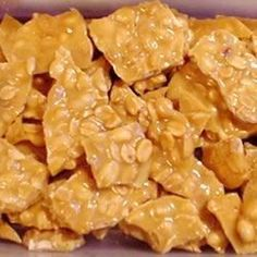 """My granddad used to make peanut brittle - it didn't look easy. From another pinner: 10 Minute-Microwave Peanut Brittle Recipe (This is my favorite """"QUICK"""" Christmas Candy Recipe, & I make it with mixed nuts or cashews! Microwave Peanut Brittle, Peanut Brittle Recipe, Brittle Recipes, Cashew Brittle, Candy Recipes, Holiday Recipes, Snack Recipes, Dessert Recipes, Cooking Recipes"""