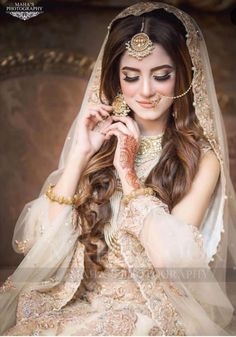 Stunning nikah bride 👰 Makeup line:   To book your appointments call us at : Address: Main PWD Double Road, Islamabad. Latest Bridal Dresses, Bridal Mehndi Dresses, Pakistani Wedding Outfits, Bridal Dress Design, Pakistani Wedding Dresses, Bridal Outfits, Bridal Style, Pakistani Bridal Hairstyles, Pakistani Bridal Makeup