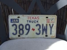 Texas TRUCK License Plate, Texas License Plate, Wall License Plate Decor, Lone Star State Decor, Texas Wall Decor, Man Cave Decor,Craft Item by BeautyMeetsTheEye on Etsy