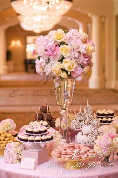 A Wedding, Beautiful Flowers, Macaroons, Candy Apples, Cupcakes and Nisie's Enchanted Florist.