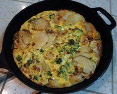 Potato, Pancetta & Broccoli Fritatta #superbowlrecipes