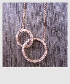 Together necklace By Hortense Jewelry. rose gold and diamonds