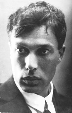 """Boris Pasternak.    """"Below, the wet black earth shows through,/With sudden cries the wind is pitted,/The more haphazard, the more true/The poetry that sobs its heart out."""""""