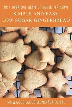 Low Sugar Gingerbread Cookies