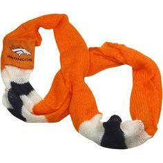 Denver Broncos Ladies Lightweight Infinity Scarf - Orange