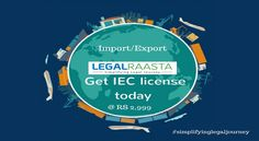 IEC is needed for import or export of goods from India. Get IEC license today from LegalRaasta at Rs. 2999. Call 8750008585 for IEC registration