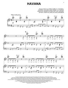 Camila Cabello Havana sheet music notes and chords featuring Young Thug for Piano, Vocal & Guitar Viola Sheet Music, Trumpet Sheet Music, Clarinet Sheet Music, Violin Music, Easy Sheet Music, Easy Piano Sheet Music, Sheet Music Notes, Free Guitar Sheet Music, Guitar Tabs Songs