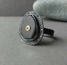 Hey, I found this really awesome Etsy listing at https://www.etsy.com/listing/190594049/fine-jewelry-ring-in-oxidized-sterling