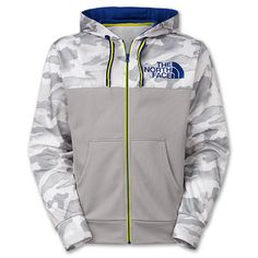 Men's The North Face Shinbori Full-Zip Hoodie | FinishLine.com | Monument Grey Camo