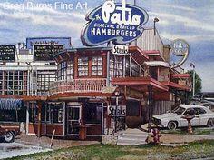 Route 66 - The Patio on the Classen Circle, Oklahoma City, OK, 1954-2000 (Now the HiLo Club)