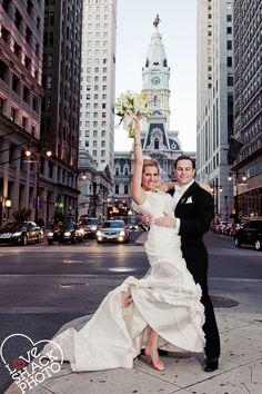 classic Philadelphia City Hall shot  Love Shack Photo