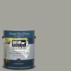 BEHR Premium Plus Ultra 1-Gal. Home Decorators Collection Woodland Sage Satin Enamel Interior Paint-775401 at The Home Depot