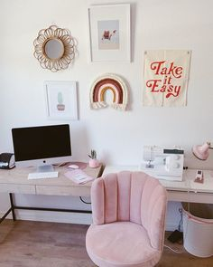 Velvet Channel Stitch Swivel Desk Chair – Chic Home Office Design Pottery Barn Teen Desk, Desk Chair Teen, Girls Apartment, Single Girl Apartment, Desk Inspiration, Bedroom Inspiration, Pink Room, Home Office Design, My New Room
