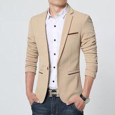 Blazer Importado Masculino De Luxo 4 Cores-Roupas & Moda