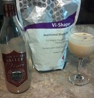 Vi-slide Ingredients: 12 fl. oz. Chocolate Red Wine 8 Ice Cubes 2 Scoops Visalus Shake Mix Directions: Combine ingredients in your favorite Vi-Shape blending apparatus, blend. (Makes two servings)  www.bodybyvisite.com