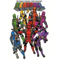 Deadpool's New Rainbow Squad Cover Is Awesome As Made By Super talent @MikeHawthorne Am Sure Hasbro Will Capitalise On This At One Point : )  #deadpool #rainbowsquad #mikehawthorne #art heyitsdeadpool #chimmichangas #FLYGUY #twitter #googleplus