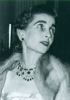 Barbara Hutton wearing the Queen Amelie of Portugal Ruby Necklace