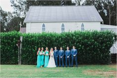 bridal party photo Pepper convent hunter valley estate wedding venue for Belinda and Tom's country style wedding by White Wedding Photographers