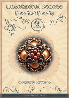 Beaded Bead Pattern Octahedral Renato  PDF door beadsbyvezsuzsi, $11.00
