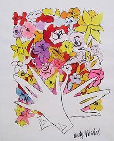 View Flowers and Gloves by Andy Warhol on artnet. Browse more artworks Andy Warhol from RoGallery. Andy Warhol Flowers, Andy Warhol Pop Art, Andy Warhol Drawings, Andy Warhol Prints, Andy Warhol Museum, Pop Art Poster, Poster Print, The Velvet Underground, Colors