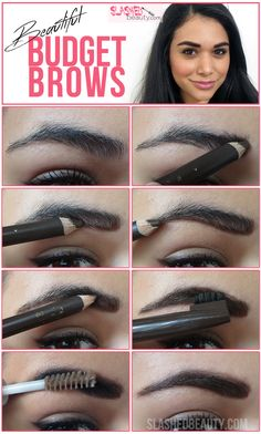 Beautiful Budget Brows: How to Fill In Your Eyebrows Eyebrow Kits, Eyebrow Pencil, Body Makeup, Skin Makeup, Mary Kay, Beauty Make Up, Hair Beauty, Perfect Eyebrows, Brow Gel