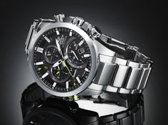 Smartphone connectivity: The Casio Edifice EQB-500D uses a Bluetooth smartphone to sync up to two timezones to the watch
