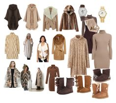 """""""Women's Brown Truth Transcends Translation Work Winter Outfit"""" by eternalfeatherfilm on Polyvore featuring WearAll, Marella, Brigitte Bailey, Judy Wu, Lattori, Rumour London and UGG Australia"""