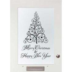 Vrolijk kerstfeest raamsticker merry christmas