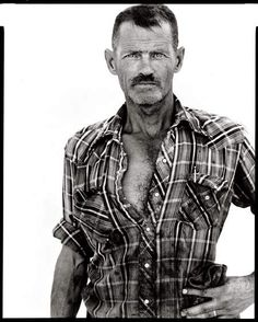 Richard Avedon - James Lykins, oil field worker, Rawson, North Dakota, August 1982 - In the American West Richard Avedon Portraits, Richard Avedon Photography, Robert Frank, Famous Photographers, Portrait Photographers, America Images, Into The West, Black N White, Mode Style