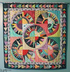 Happy colors; wonderful New York Beauty quilt