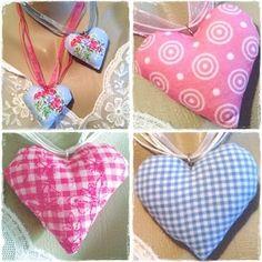Textilschmuck - ♥ Herzerl-Kette 10005+10036+10040+11379 - ein Designerstück von ikimmis-passion bei DaWanda