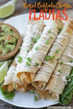 Baked Buffalo Chicken Flautas - The Farm Girl Gabs® | Where Food, Fun And Farm Life Collide
