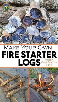 Make Your Own Fire Starter Logs - Have trouble getting a campfire to stay lit? Make your own fire starter logs for a one match fire each time. These are cheap and easy to make with supplies you probably already have on hand. Camping Oven, Camping Near Me, Diy Camping, Family Camping, Tent Camping, Camping Hacks, Camping Gear, Outdoor Camping, Camping Stuff