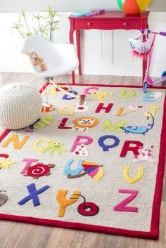 $5 Off when you share! Rugs USA Cradle Alphabet Rug #RugsUSA