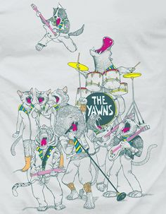 This is one of my favorite Threadless designs by alvarejo. THE YAWNS by alvarejo Got Print, Submissive, Snoopy, My Favorite Things, Prints, Fictional Characters, Design, Art, Craft Art