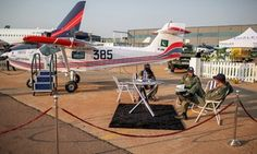 Aviation experts show keen interest in Pakistan-built Super Mushshak at African defence expo - DAWN.com